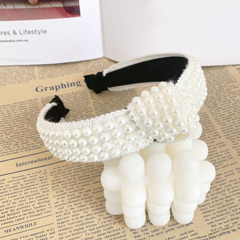 Boho Women/'s Knot Headband Hairband Pearl Tie Crystal Hair Band Hoop Accessories