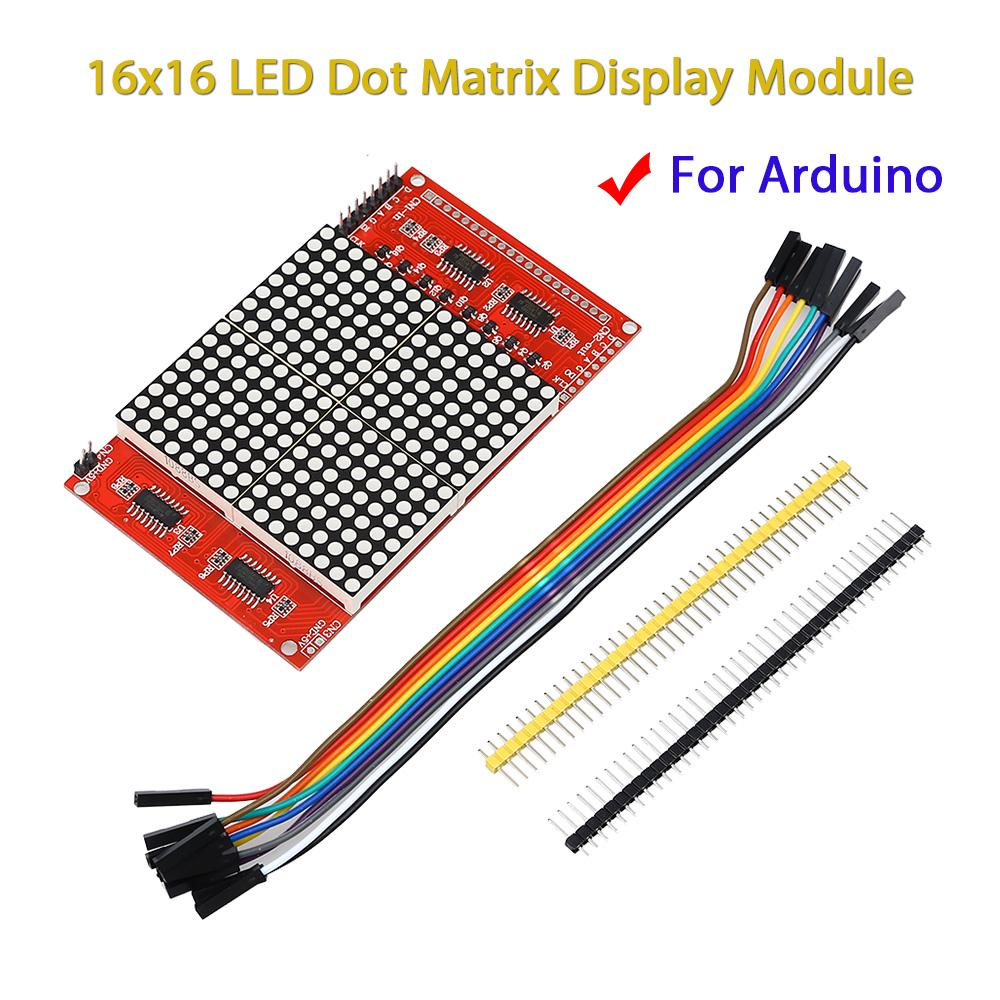 16x16 LED Dot Matrix Display Eletronics Module Kit Dupont Cables For  Arduino DIY