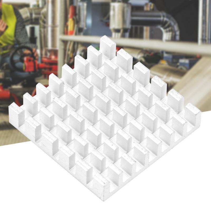 10PCS Aluminum Heatsink Cooling Fin 25/×25/×5mm Circuit Board Cooling Fin HeatSink Cooler Chip Heat Sink for CPU Electronic Chip Router White