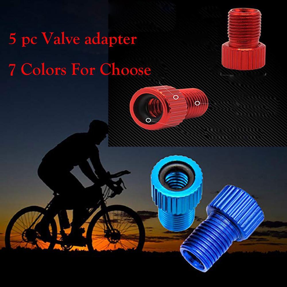5PC Aluminum Alloy Valve Adapter Bicycle Road Racing Bike Inner Tube
