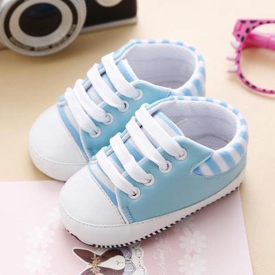 Enfants Garçons Filles Crib Chaussures Toile Baskets Soft Prewalker anti-dérapant Sneaker