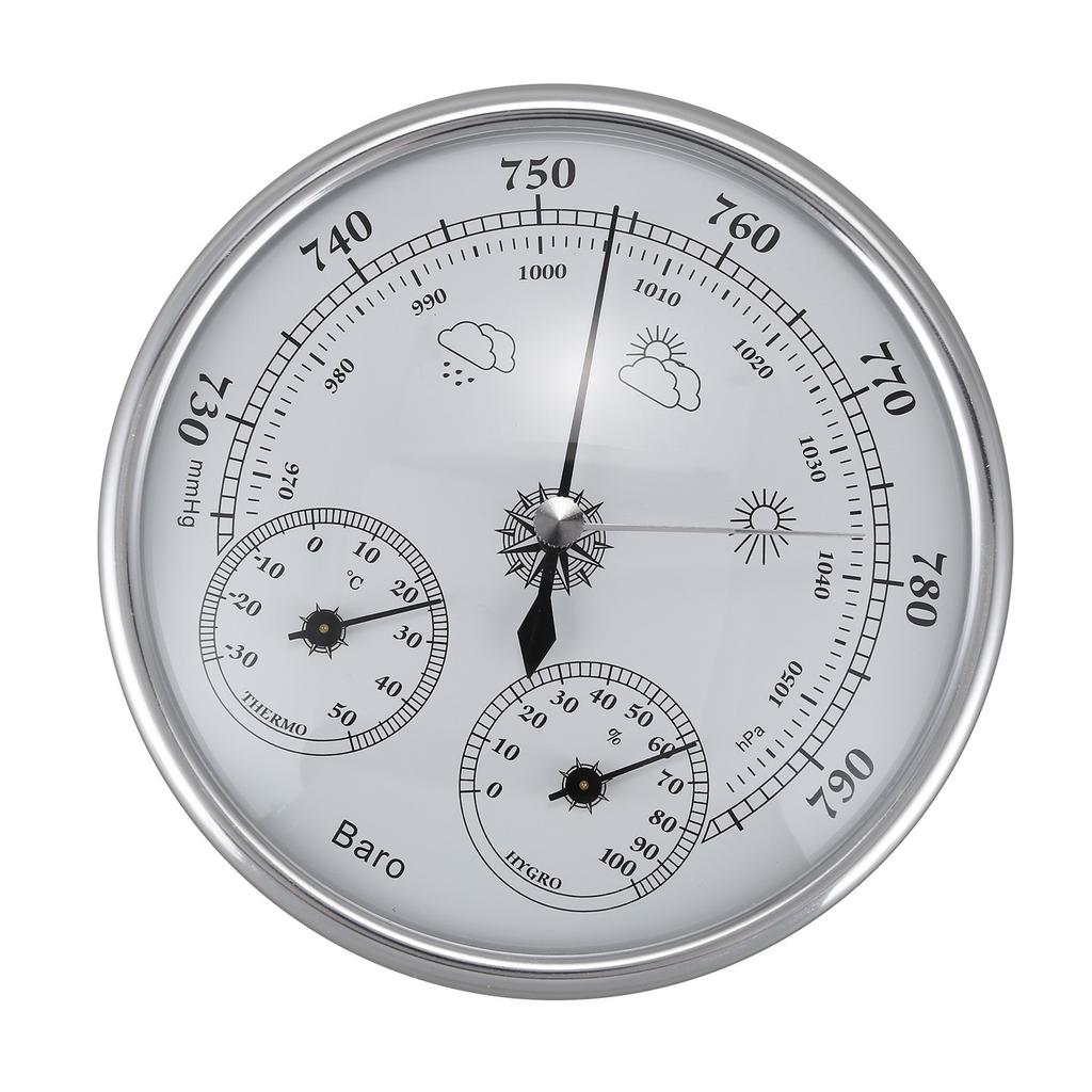 108mm Wall-Mounted Barometer Perspective Circular dial air Measuring Instrument mmHg/hPa Hand Tools