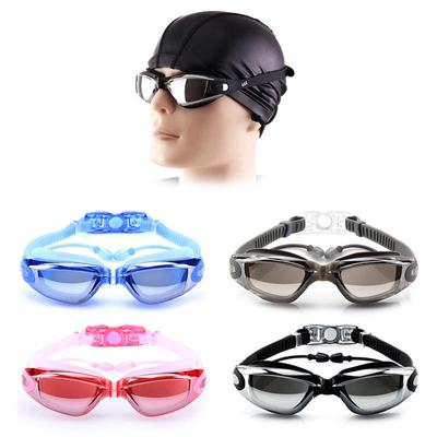 853fa827a0 Swimming Goggles Anti-Fog UV Protection Crystal Clear Vision with Protective  Case Fit For Adults