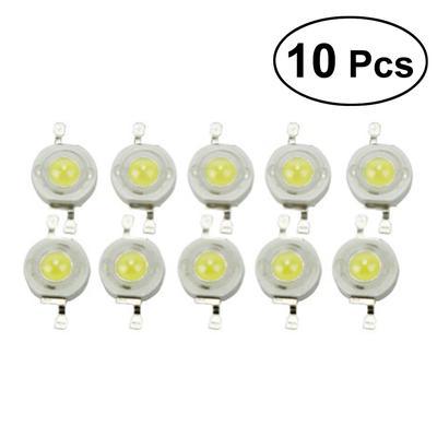 10x Set 120 ° High Power LED Chip Hochleistungs 1W Energie sparen 6000-6200K 3V