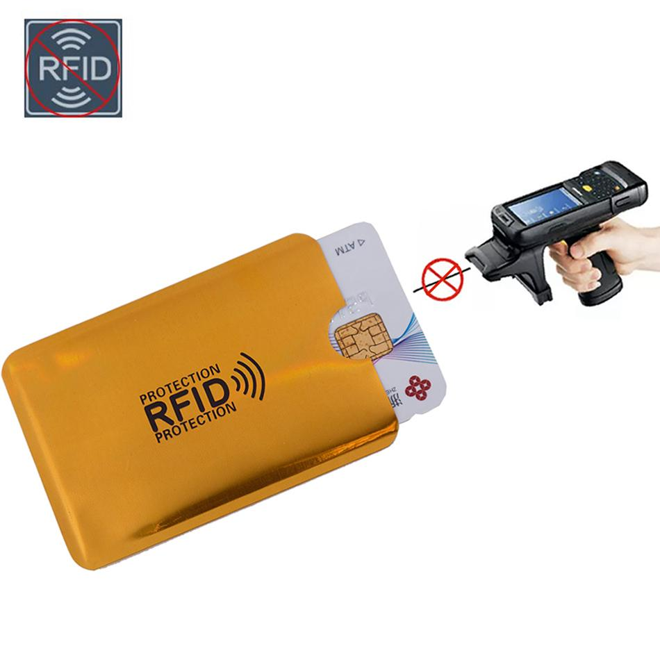 Aluminium RFID Scan Protected Hard Case Security Wallet Bank Credit Card Holder
