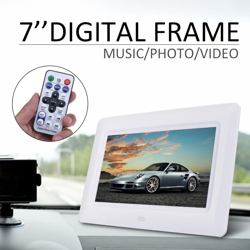 Digital Picture Frame 7 Inch Digital Picture FrameMP3 Music 1080P HD Video 1024600 Pixels High Resolution Smart Electronic Frame Auto On//Off Timer Remote Control Included Gift for Lover
