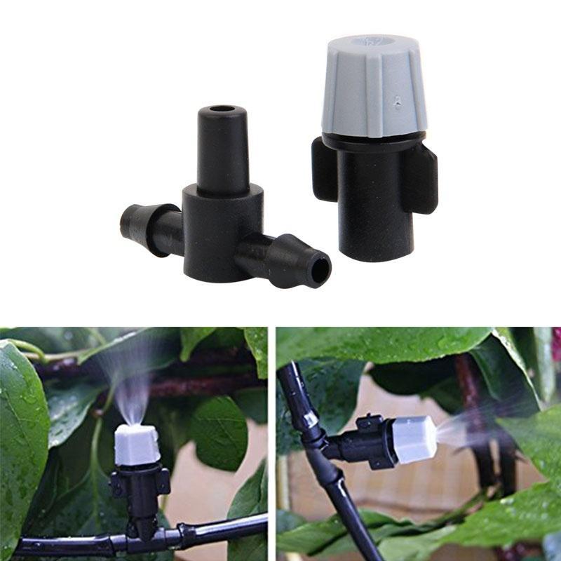 20pcs Arroseur à têtes de buse /& Tee Articulations Jardin Mist arrosage irrigation