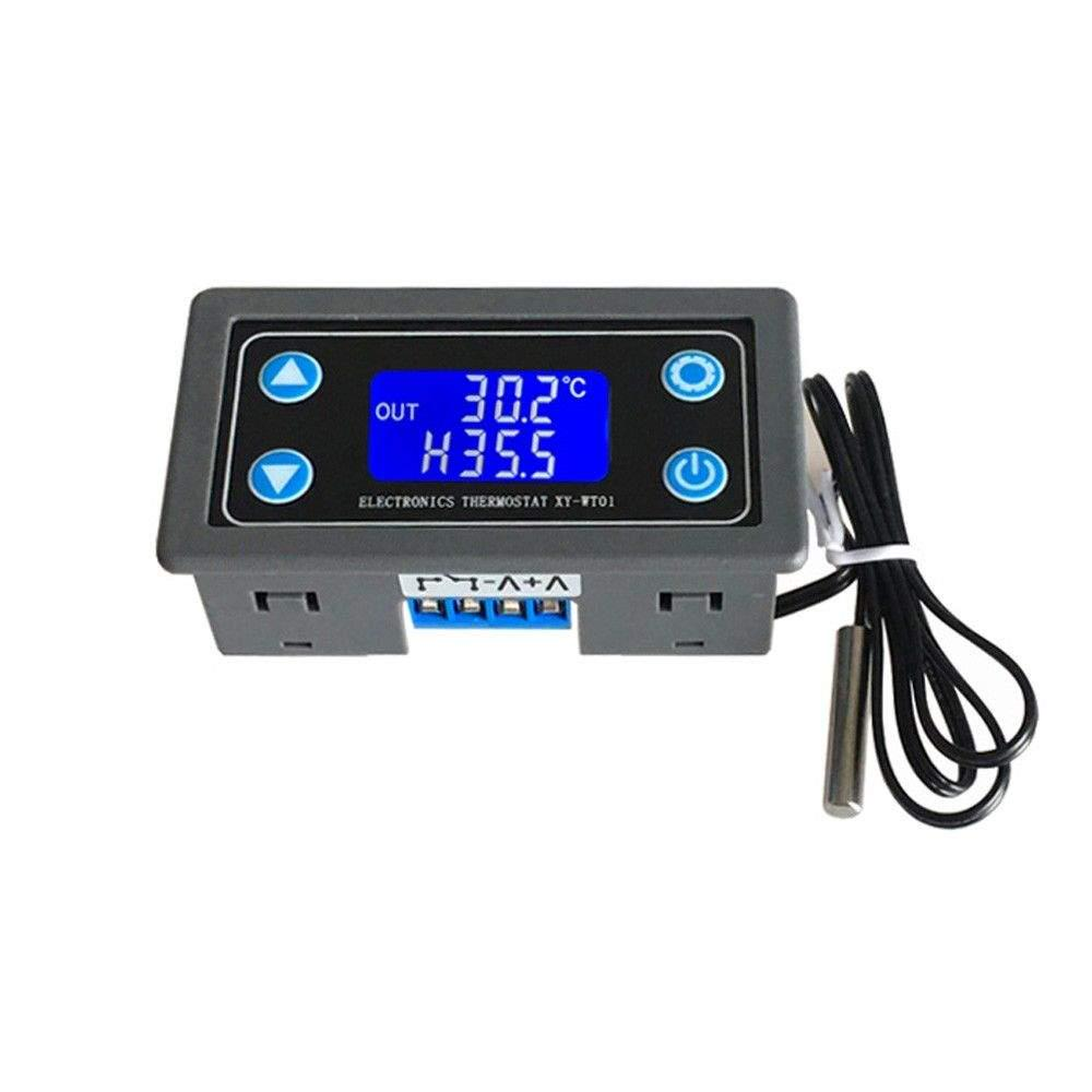 12V Heat Cool Temp Digital Thermostat Temperature Control 50-110℃ Switch Relay