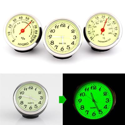 HNIWDJ Car Luminous Clock Thermometer Hygrometer Internal Stick-On Dashboard Auto Interior Ornament Styling Accessories Gifts Color : BA