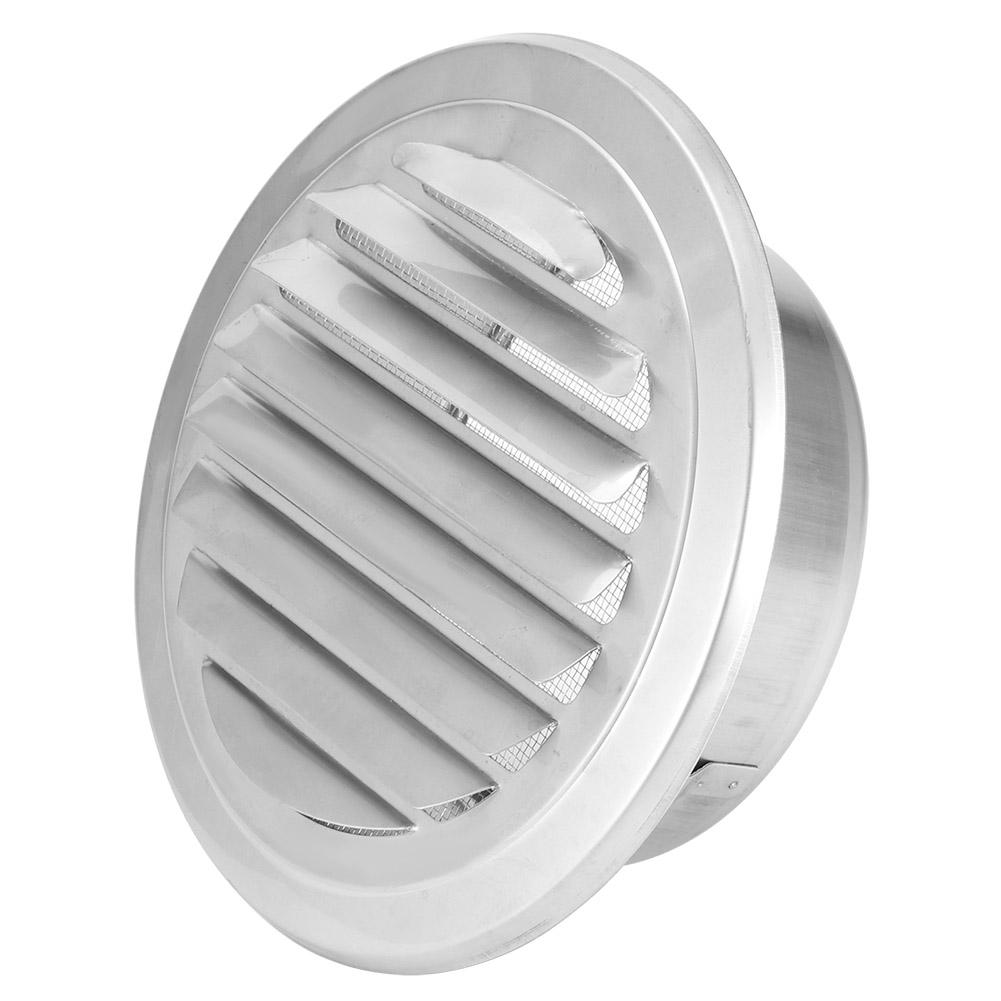 ventilation pipe cover flat grille duct vent hood 304 stainless steel 125mm diameter windproof insectproof