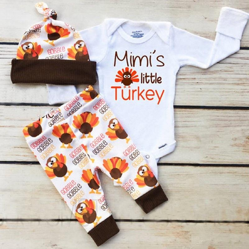 Turkey Bird Romper Jumpsuit Unisex Baby Bodysuits