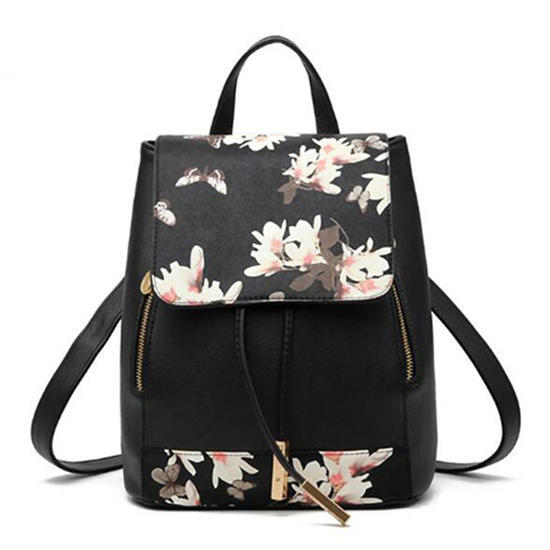 Butterfly Backpack PU Leather School Shoulder Bag Rucksack for Women Girls Ladies Backpack Travel Bag