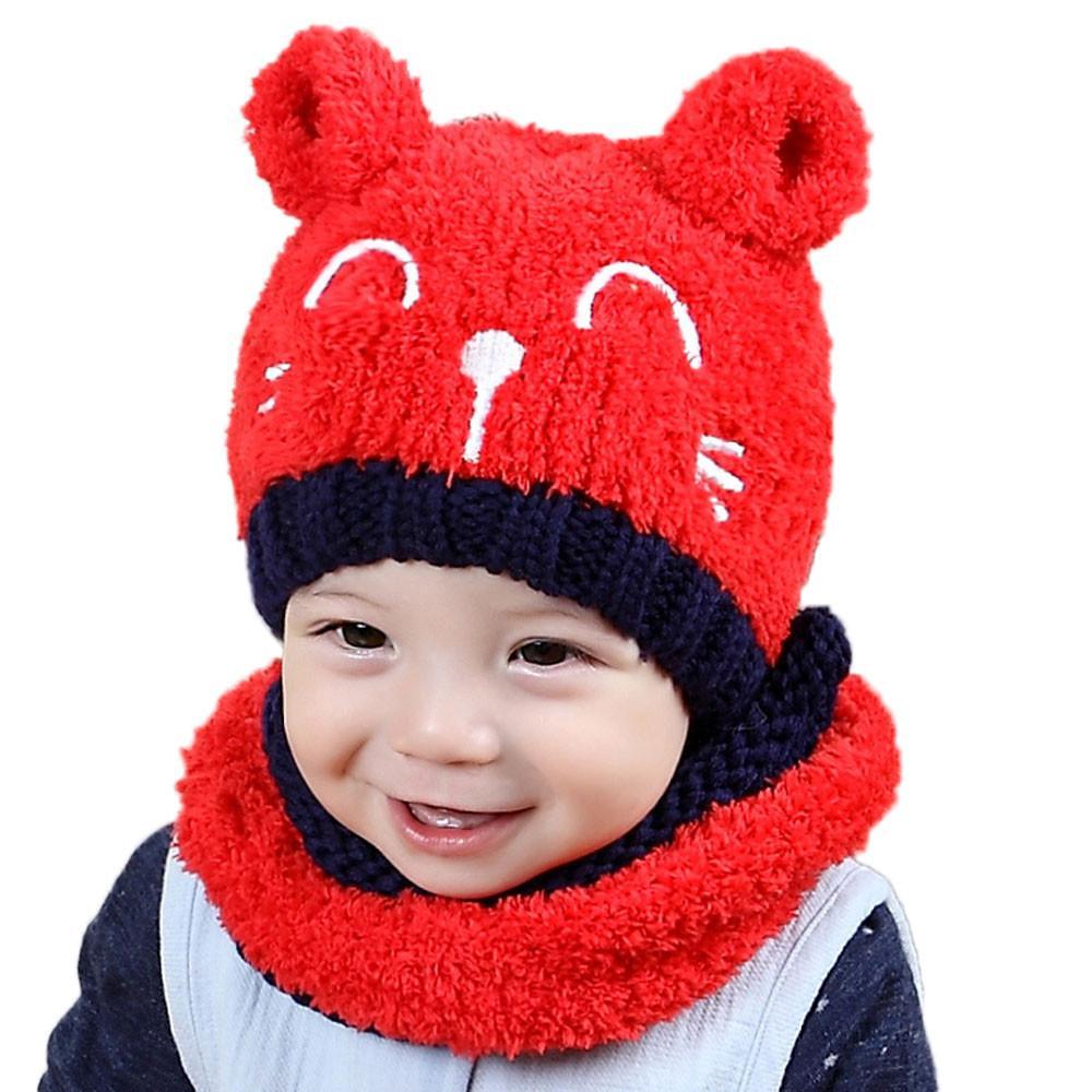 cfe0d1be59af Bébé enfant enfants garçon fille tricoté Spire joli chapeau mou pour ...