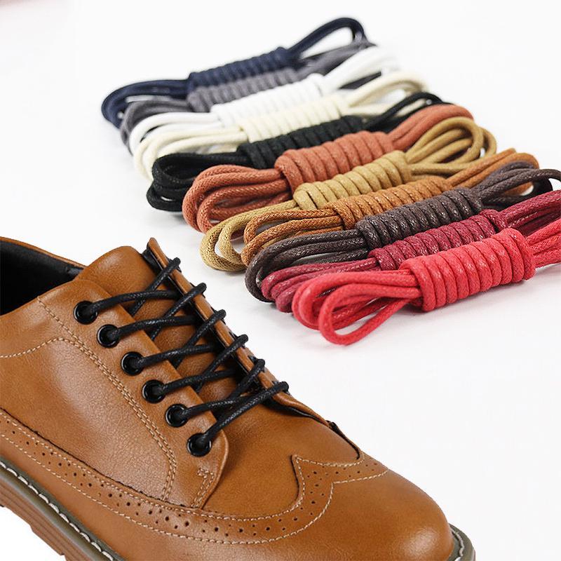 2pcs Round Shoe Hiking Boots Lace Strong Textile Boot Laces BLACK