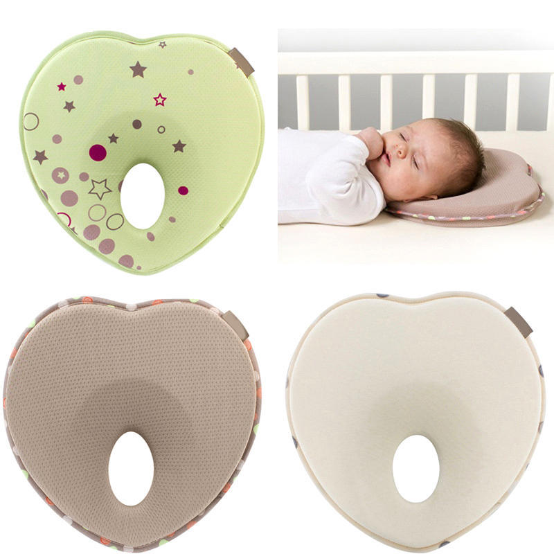 Baby Pillow Soft Memory Foam Newborn Baby Infant Head-Shaping Pillow Head Positioner Neck Support Prevent Flat Head 0-12 Months Universal in Crib,Bed,and Pushchair