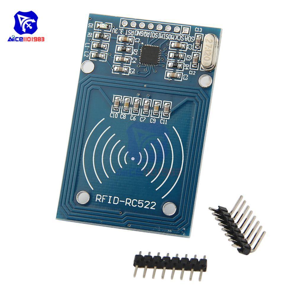 Stayhome 1pcs MFRC-522 RC-522 RC522 13.56MHz RFID Module for SPI Writer Reader with The IC Card with Software