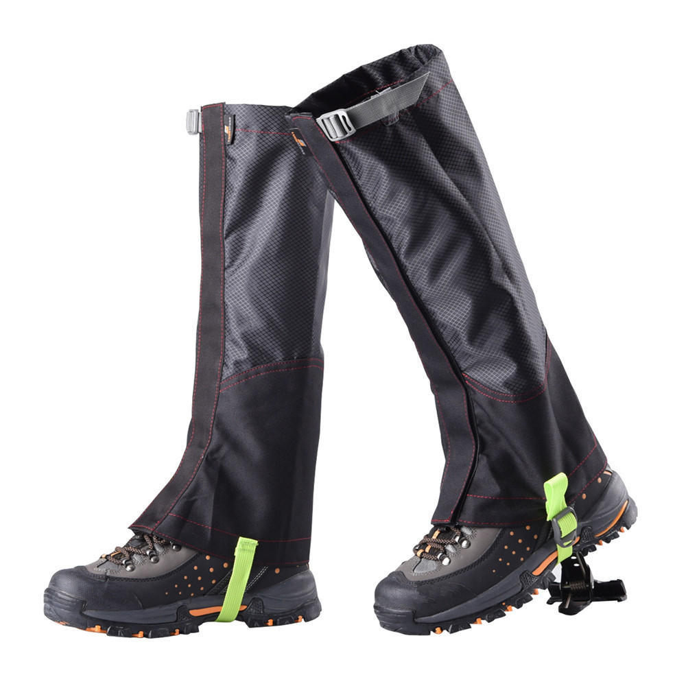15,7/'/' escalada a prueba de agua nieve zapato cubierta de la pierna boot legging
