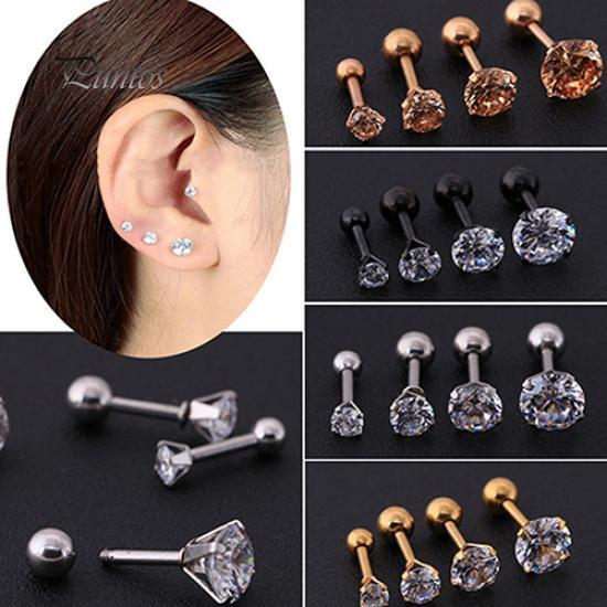 NEW  Bright Green Ball Ear Cartilage Bar Barbell Earring Stud