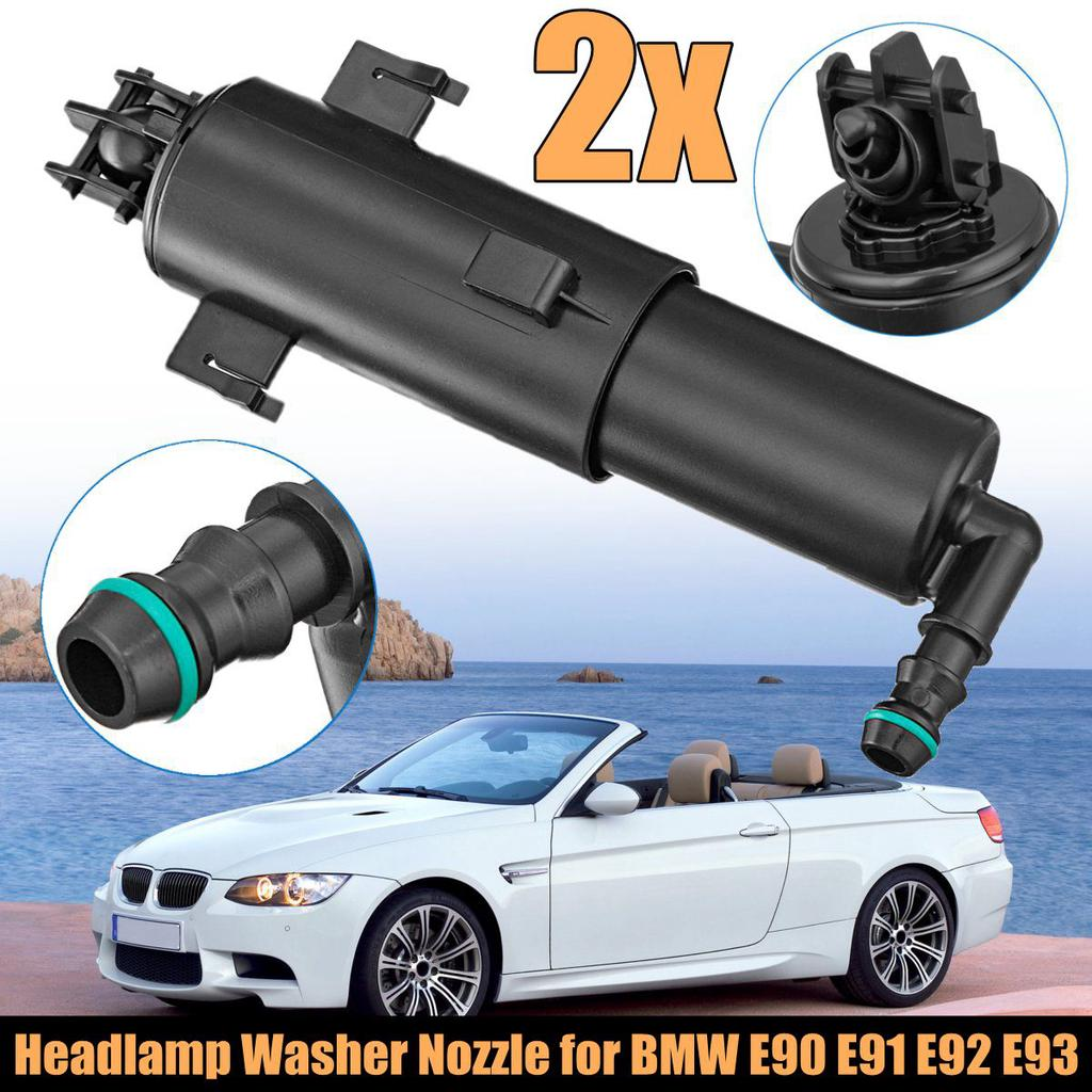 Left Right Front Headlight Washer Nozzle Jet Sparyer For BMW 3 Series E90 E91