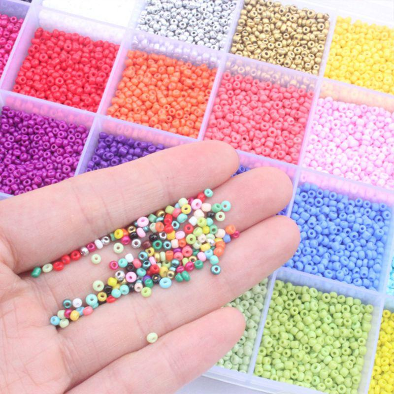 2mm Small Craft Beads Pony Beads Transparent Silver Lined Seed Beads for DIY Bracelet Necklaces Crafting Jewelry Making Supplies 1000pcs per color TESION 24000 Pcs 24 Multicolor Glass Seed Beads