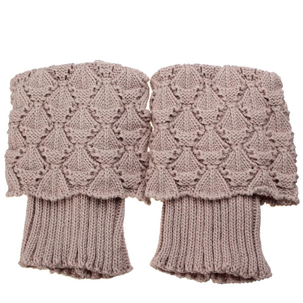 Señora invierno Crochet arranque puños rombo punto primeros ...