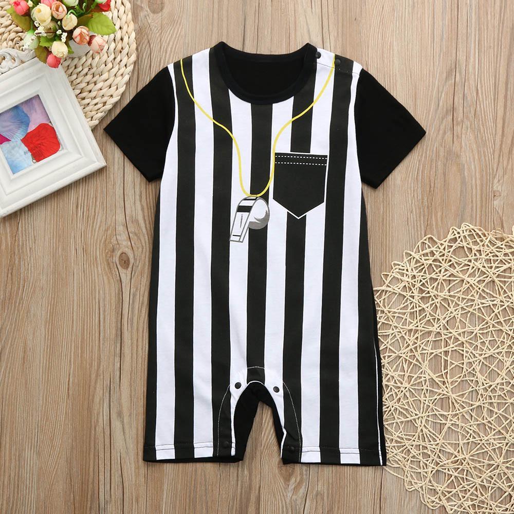 Jumpsuits Newborn Toddler Baby Boys Striped Football Soccer Referee ... 06f8f2fb8