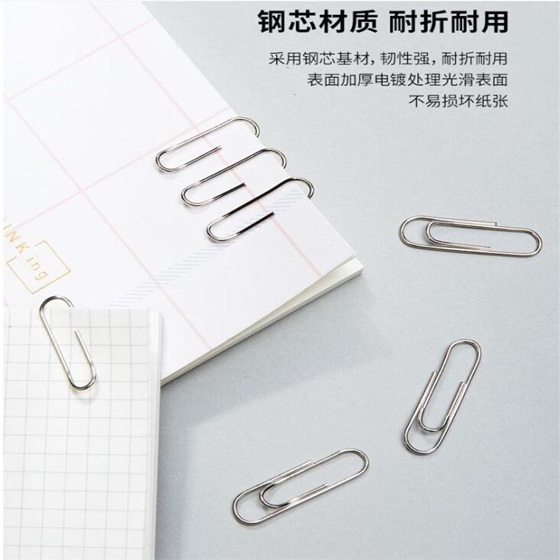 50x Colorful Bone Shape Paper Clips Photo Album Clips Bookmarks Stationery