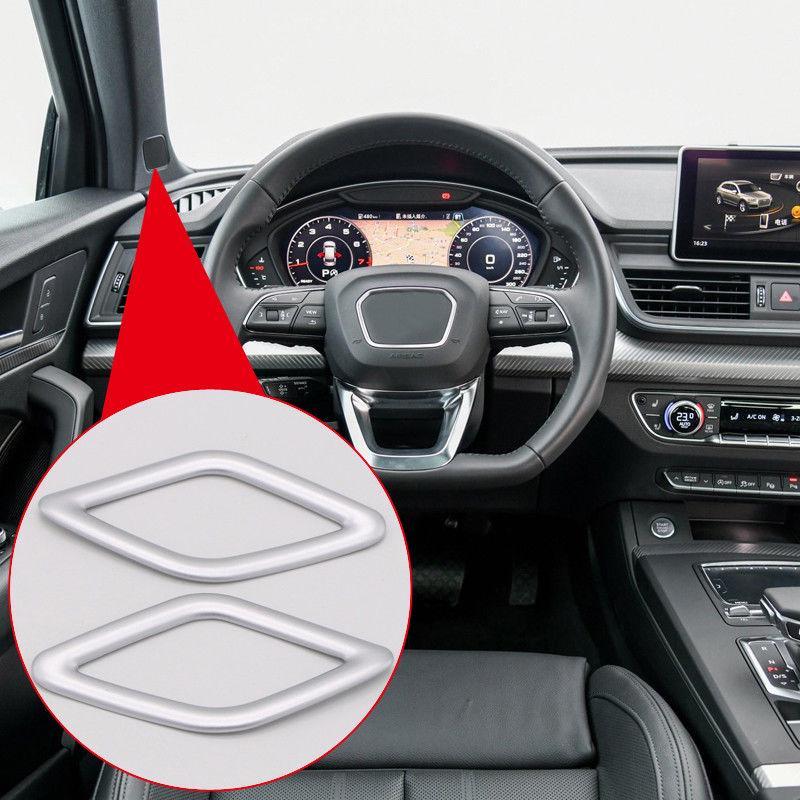For Audi Q5 FY 2018 Matte ABS Interior A Pillar Stereo Speaker Cover Trim 2PCS