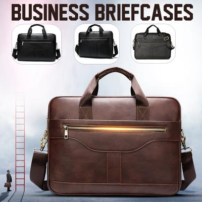 Bxfdc Briefcase Casual Leather Mens Bag Shoulder Messenger Bag Handbag