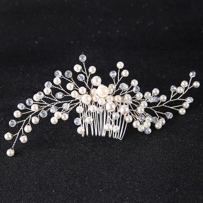 Elegant Bridal Leaf Hair Combs Wedding Headwear Ornament For Women Charm  Jewelry Trendy Accessories 9eff55ff83ca