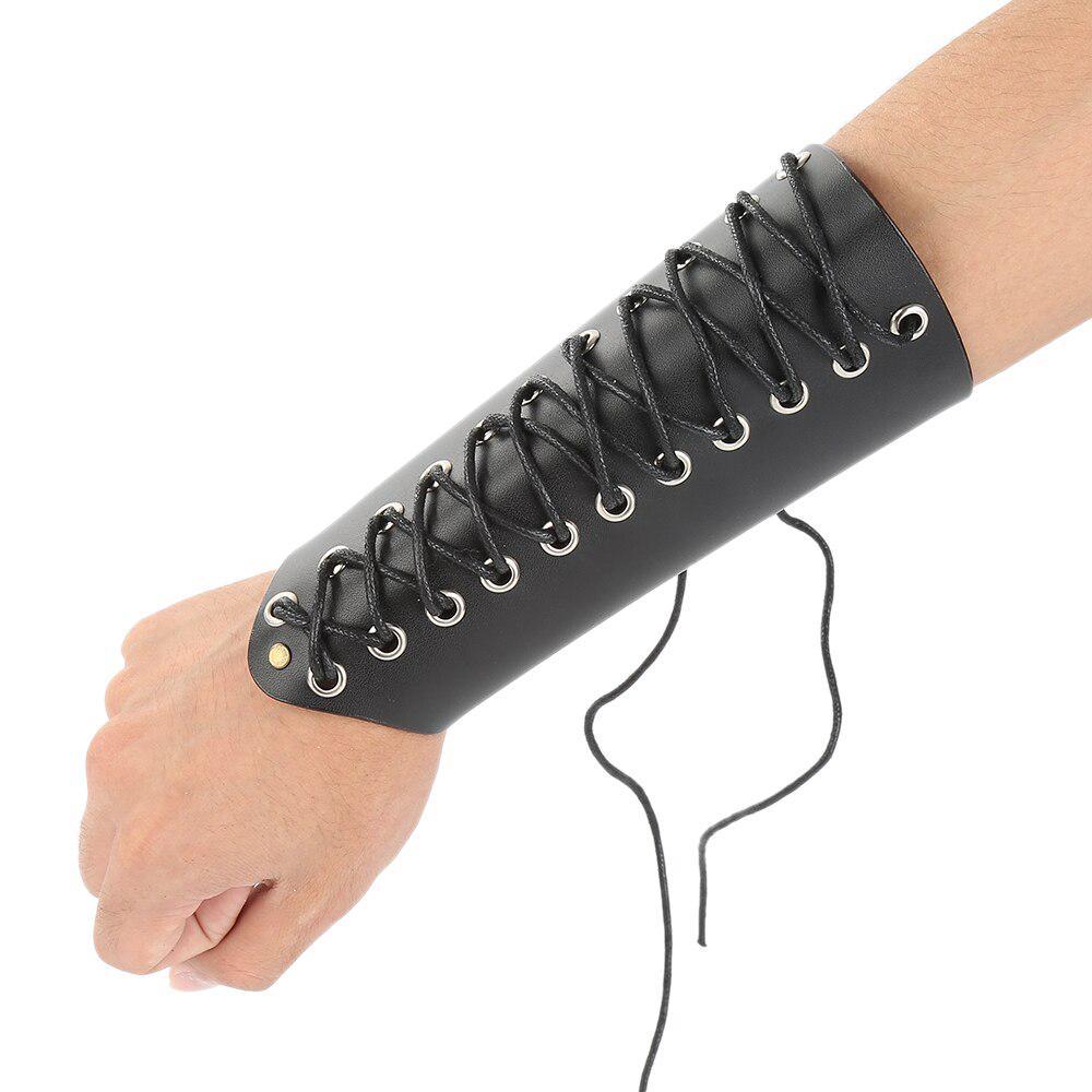 Vintage gothique punk en cuir bande de poignet Bracer Garde Bras Protecteur Bracelet