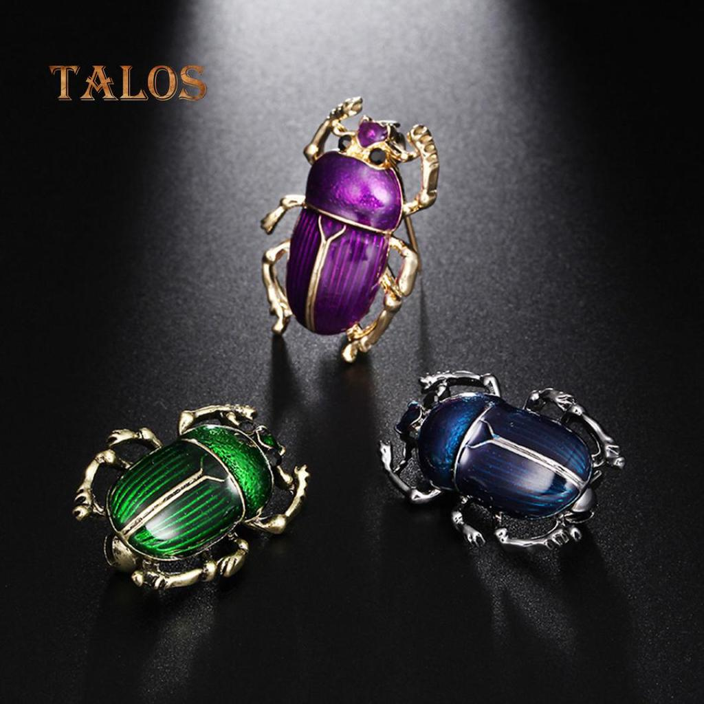 Vintage 2 Colours Gold//Silver Plated Beetle Brooch Pin Women Jewelry Gift Party