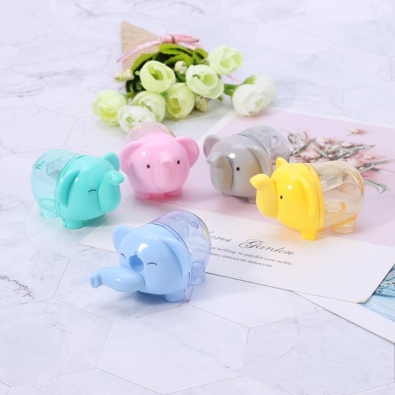 1Pcs Cute Lovely Elephant Pencil Sharpener School Kids Favorite School Office BA