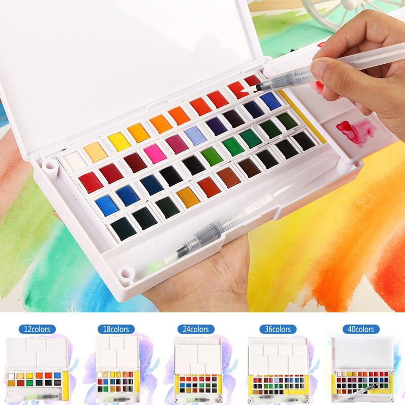 12//18//24//36 Color Pens Watercolor Drawing Painting Brush For Artist Manga Marker