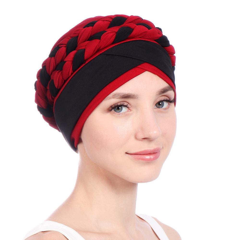fe6343f29 Women Weave Muslim Hijab Milk Silk Indian Hat Chemo Cancer Headscarf Turban  Headwrap Beanie Cap