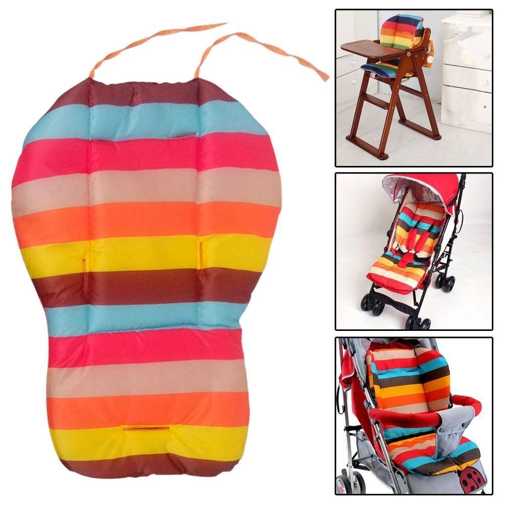 Радуга цвета мягкий толстый Pram подушке кресло BB автомобиль фото