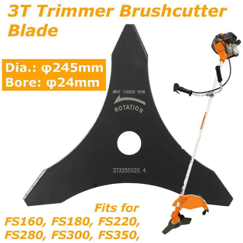 "10/"" Mn-Steel Mower Trimmer Brush Cutter Blade for Lawn Garden Strimmer Weed 3T"