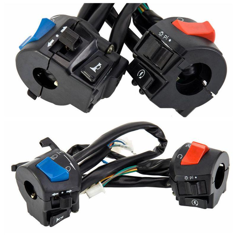 Cable Handlebar Switch,7//8 Handlebar Switch Control Headlight Turn Signal Light Horn Switch Universal 12V Cable Length 53cm