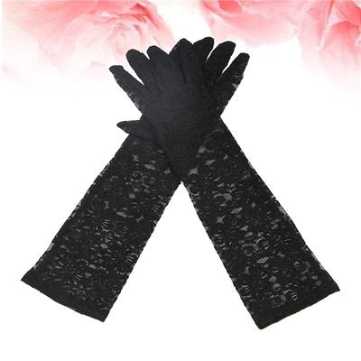 Mitaines De Conduite Femme Gants Courts Longs gants sans doigts Anti-Solaire UV Gants Moto /élastique et respirant Mitaines /Él/égant demi doigt gants de protection solaire