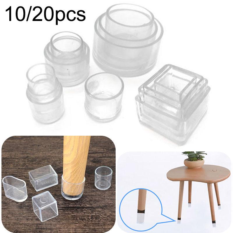 10 20pcs Silicone Rubber Chair Leg, Dining Room Chair Feet Covers