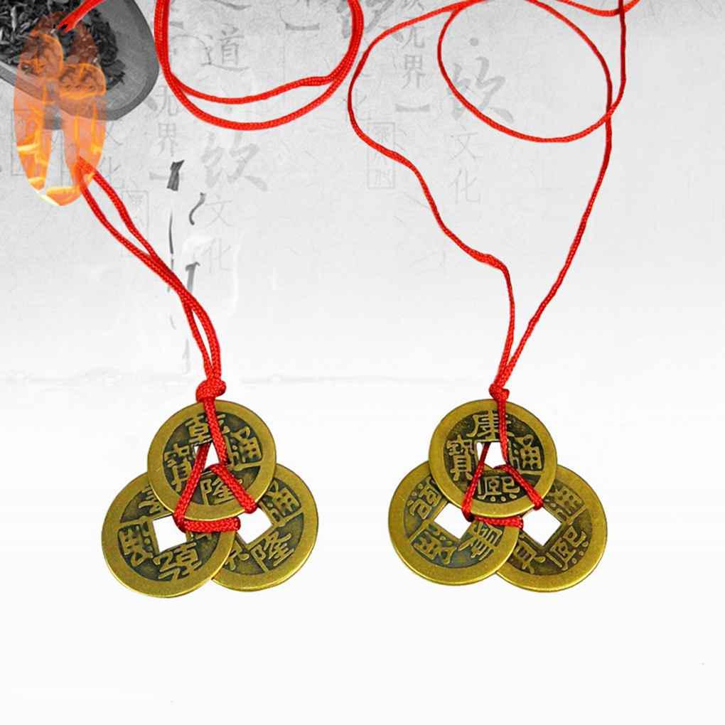 3pcs китайский удачи монеты богатства успех Fortune медные монеты китайский сплава подарки дня рождения