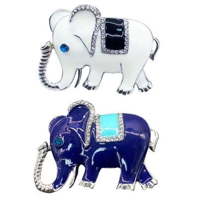 Cartoon Bear Elephant Enamel Brooch Pin Collar Lapel Clothes Badge Jewelry LC