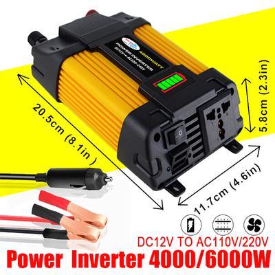 Spannungswandler 12V 6000W Stromwandler Solar Inverter WechselrichteU