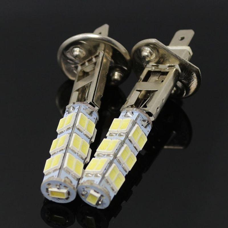 2pcs White H1 LED 25-SMD Canbus Hyper Headlight High Beam Head Lights 6000k