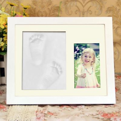Jespr Baby Handprint and Footprint Frame Package Mold Kit Baby Gift ...