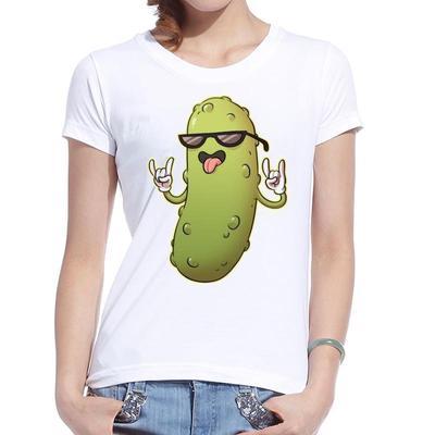 a1872c9a01af2 Las mujeres camisetas dibujos animados de impresión Pickel hombre Rick  Contton camiseta Casual Camiseta Mujer Feminino