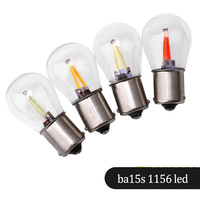 9 Led 382 1156 Ba15s P21w 12v Rear Indicator Light Bulbs Yellow Amber Bayonet
