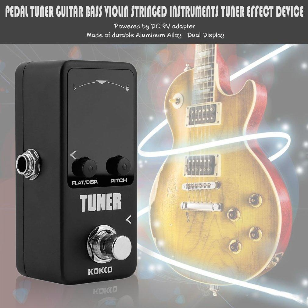 Guitar effect pedal guitar bass violin stringed instrument tuner effect  device