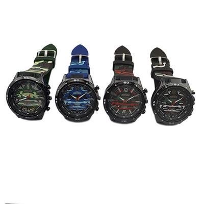 7ef8a26b0292 Moda reloj militar muchacho estudiante silicona Casual hombres alta calidad  camuflaje deportes reloj de pulsera
