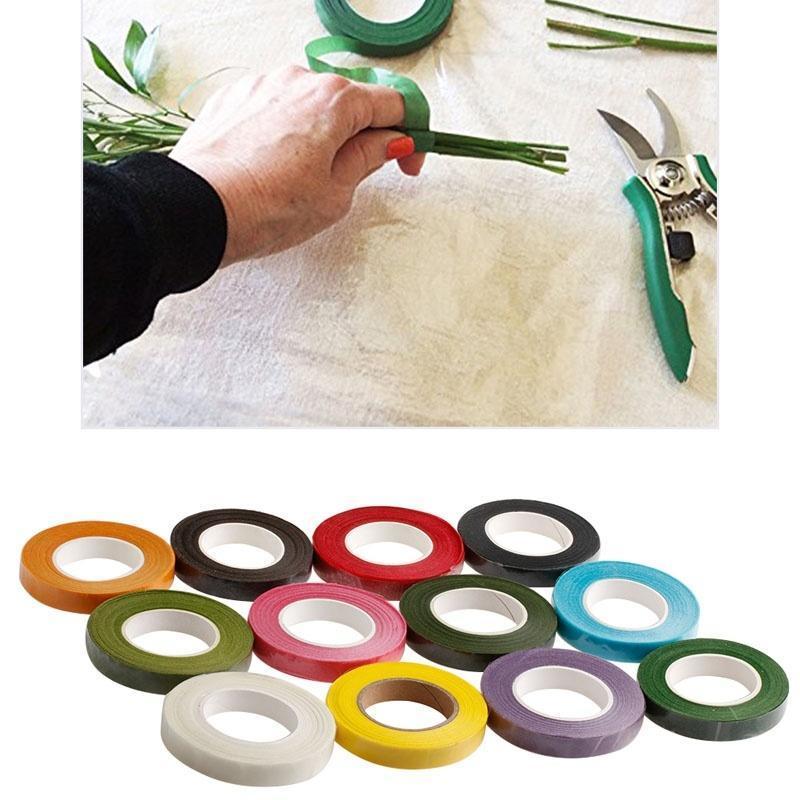 Fleuriste vert tige Floral bande Corsages boutonnière artificielle étamine Wrap